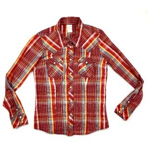 True Religion Button Up Pearl Snap Shirt